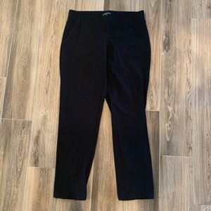 Eileen Fisher petite pull on black pants viscose M